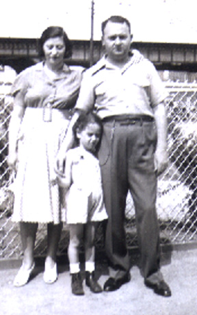 Anne Mayoff Sabran with husband Max Sabran and daughter Sandra (Alotta), circa 1939.