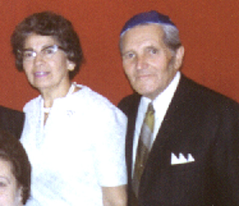 Hymie's sister and brother-in-law, Esther Mayoff (Ush) and her husband Hymie Mayoff.