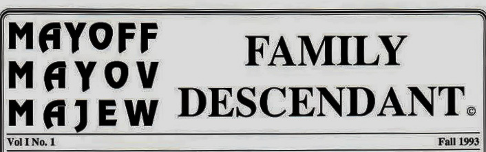 Family Descendant masthead