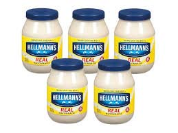 Five mayonnaise jars