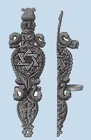 Merovingian artifact with Star of David