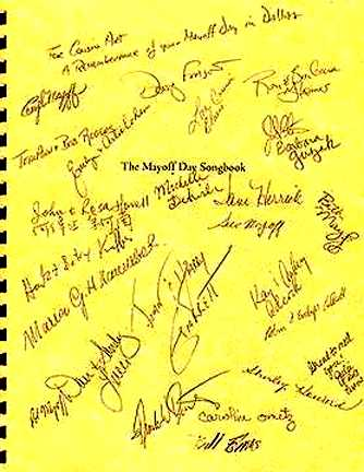 Autographed Mayoff Day Songbook cover - 1999