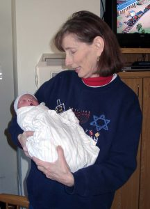 Denise Mayoff holding Mitchell Ray Navarrete, December 1, 2006