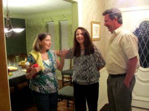 Carol and Dave Stimson say goodnight to Denise
