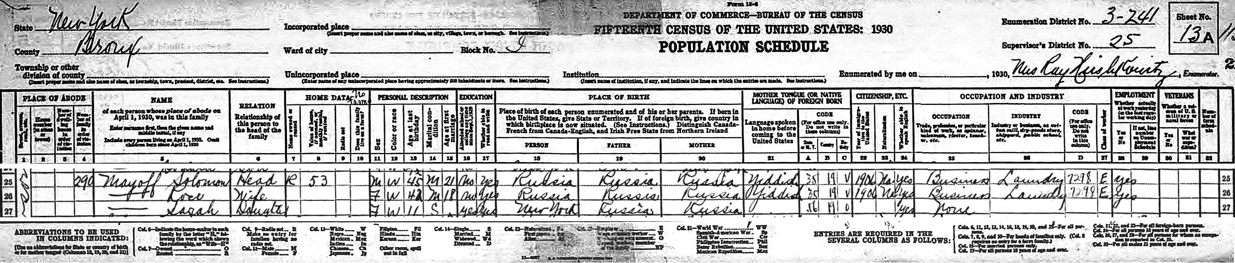 portion of this 1930 census page