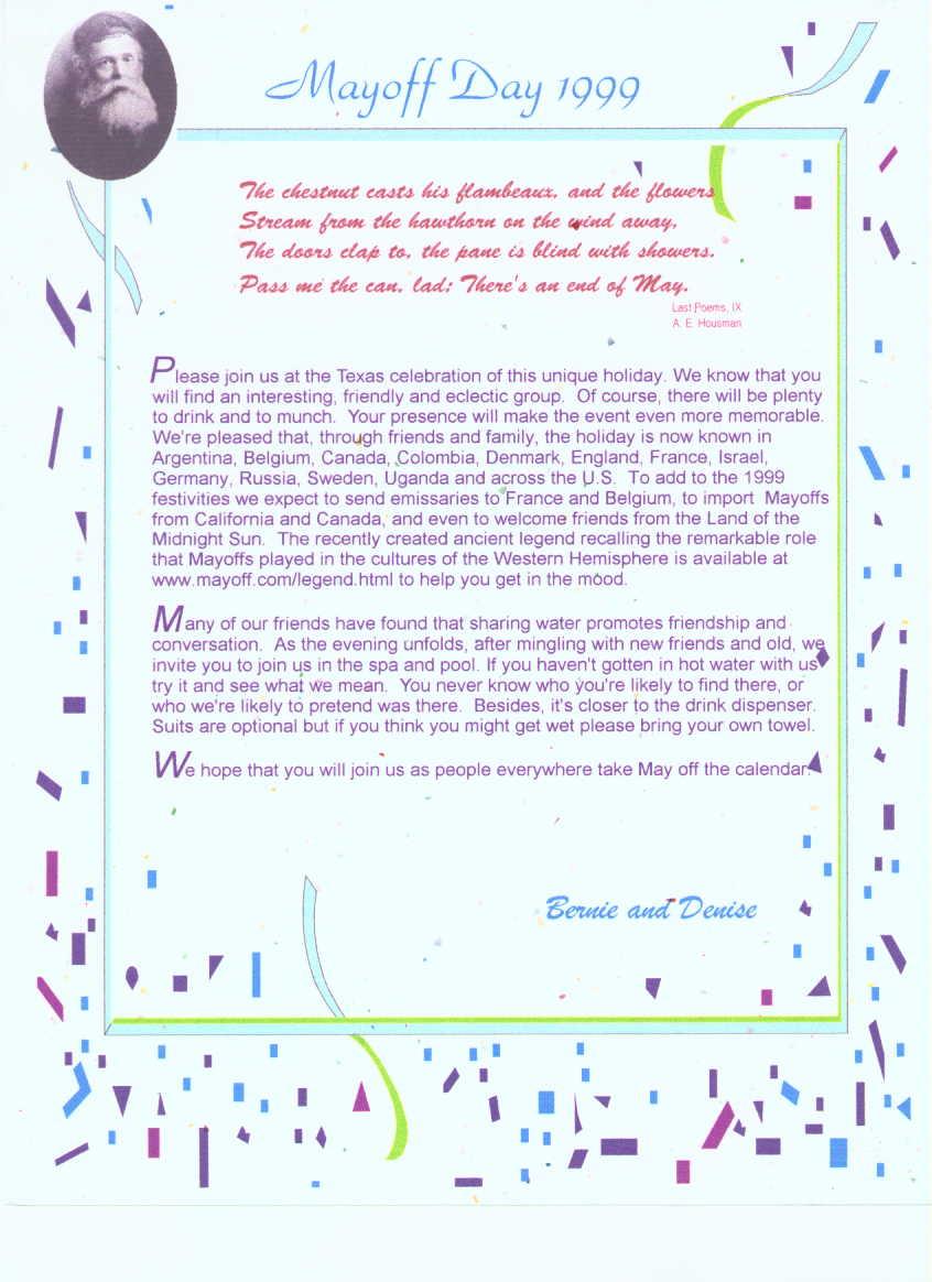 Invitation 1999