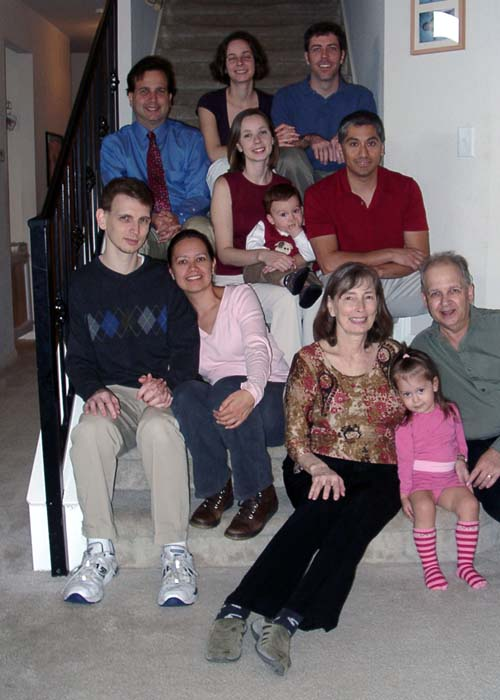 Thanksgiving 2007. December 1, 2007. (L-R) Top to bottom: Beth Shepherd, Bryan Shepherd, Jeffrey Mayoff, Cheryl Navarrete, Richard Navarrete, Mitchell Navarrete, Rob Mayoff, Delia Mayoff, Denise Mayoff, Bernie Mayoff, Gwendolyn Navarrete