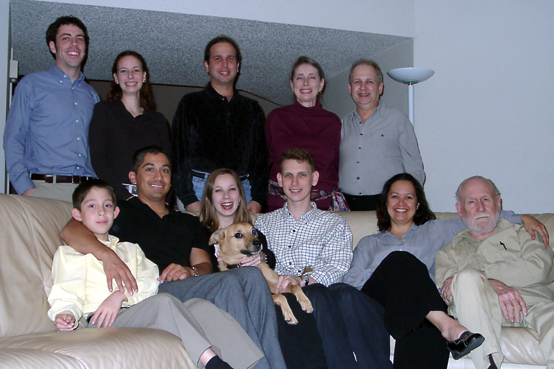 Thanksgiving 2002, (L-R) Standing: Bryan Shepherd, Beth Shepherd, Jeff Mayoff, Denise Mayoff, Bernie Mayoff. Sitting: Richard Navarrete Jr., Richard Navarrete, Cheryl Mayoff, Grommit, Rob Mayoff, Delia Hoker, George Hoker