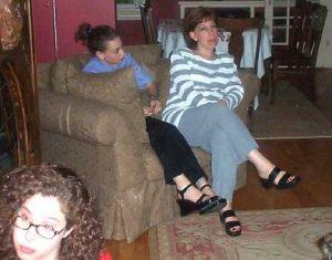 Sonia and Cheryl Cappe (That's Jennifer Scott in the bottom left)