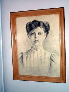 Sonia Bottler painting hanging in Beatrice's home.