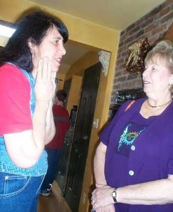 Sue Mayoff and Barbara Berman
