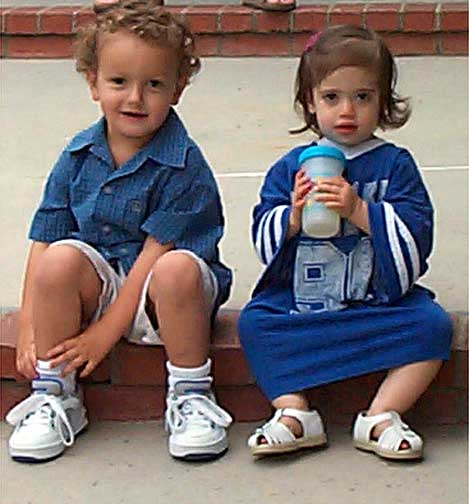 Jake Mayo age 3 and Sara Gerstman 19 months