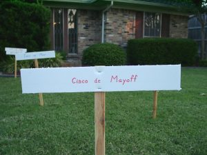 Pathway sign:: Cinco de Mayoff