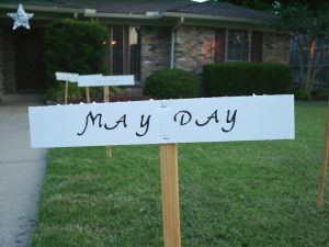Pathway sign: May Day