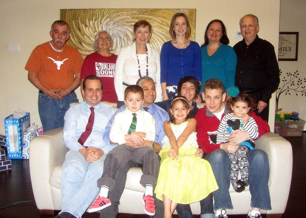 Seated:  Jeffrey Mayoff, Mitchell Navarrete, Richard Navarrete, Gwendolyn Navarrete, Richard Navarrete Jr., Rob Mayoff, Cassandra Mayoff