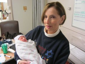 Denise Mayoff holding Alice Shepherd, December 14, 2012