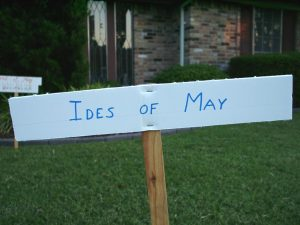 Pathway sign:: Ides of May