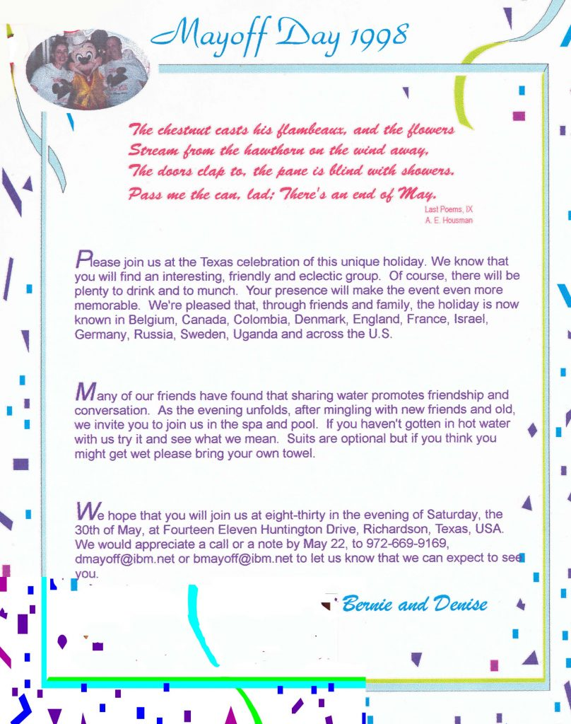 Invitation 1998