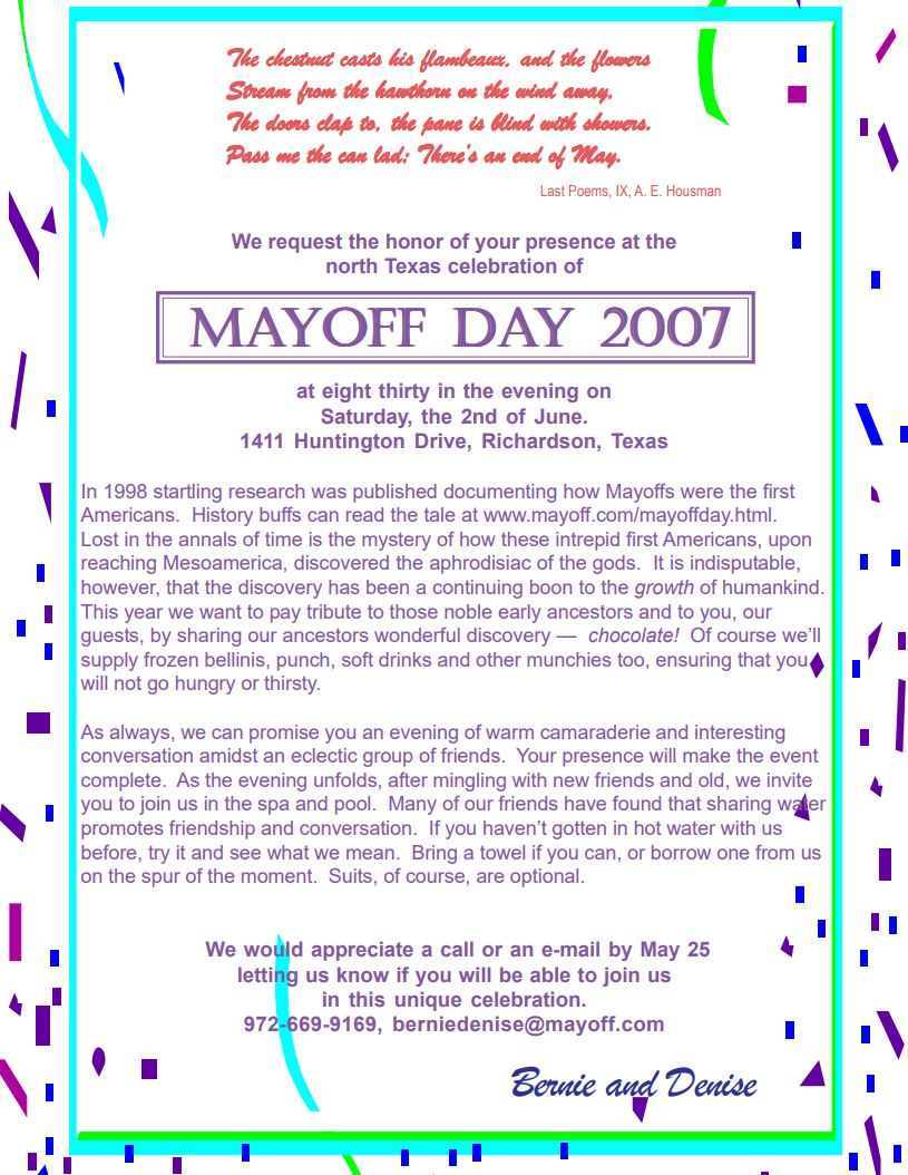 Invitation 2007
