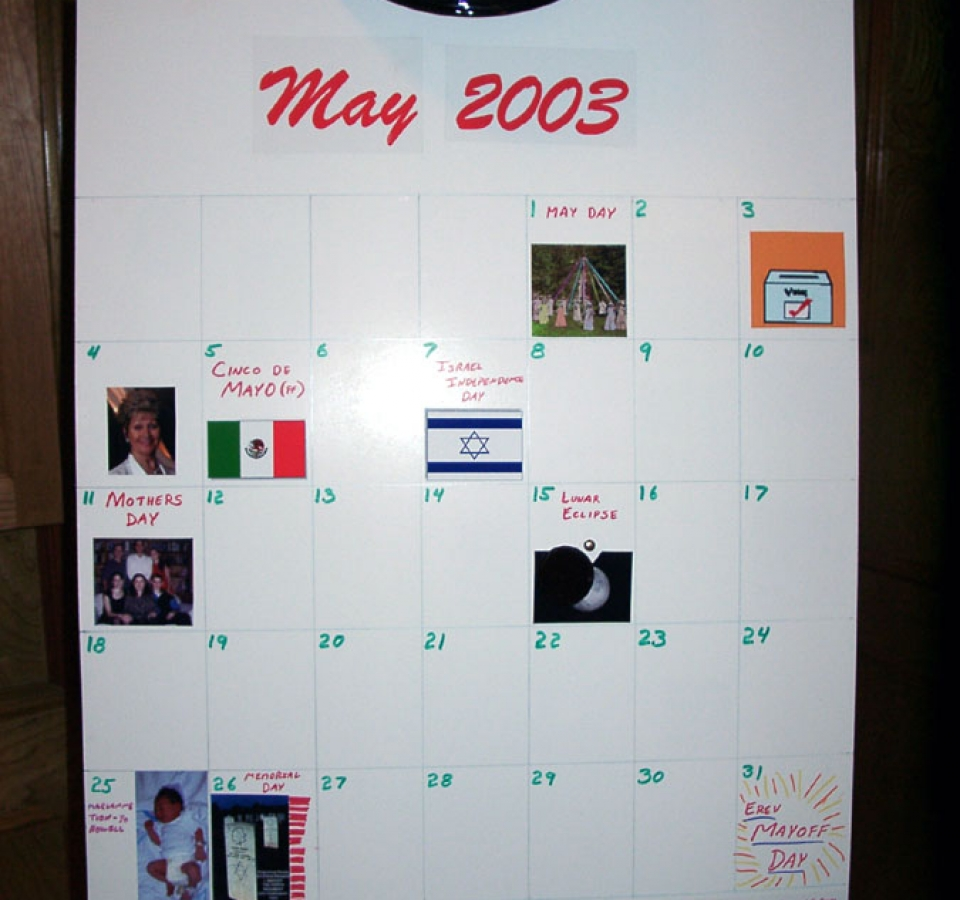 May 2003 calendar, One moment it is May . . .