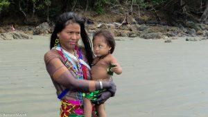 Embera woman and toddler