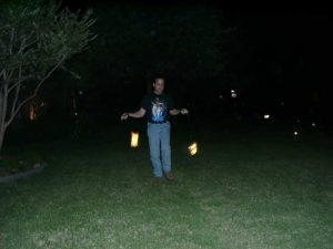 Jeff Mayoff demonstrating the art of Poi.