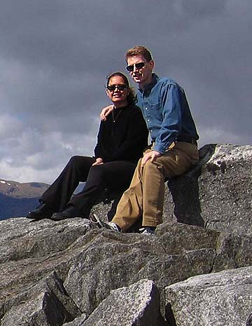 Delia Hoker and Rob Mayoff, May 21, 2004, between Inverness and Isle of Skye, Scotland