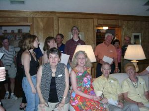 Jack Byno, Cheryl Mayoff, Denise Mayoff, Toni Graham, Yves Quervel, Greg Graham, Teri Ann Rogers, Bob Rogers, Jim Howard, Julie Evans, Bill Evans, Shirley Howard
