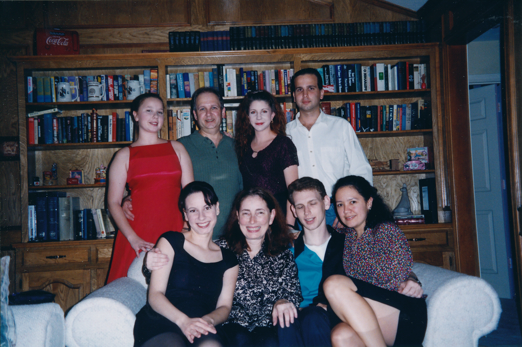 Thanksgiving 1998. (L-R) Standing: Cheryl Mayoff, Bernie Mayoff, Jennifer, Jeffrey Mayoff. Sitting: Beth Mayoff, Denise Mayoff, Rob Mayoff, Delia Hoker