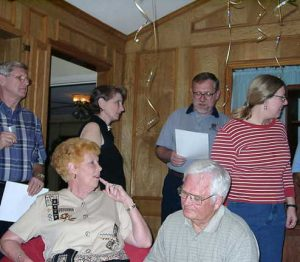 Learning the 2002 Mayoff Day Song Aubrey Adcock, Shirley Howard, Denise Mayoff, James Peterson, Jim Howard, Barbara Guzak