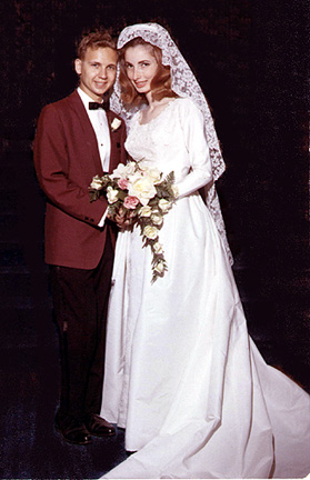 Bernard and Denise Mayoff wedding photo, September 19, 1965