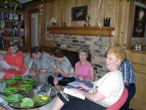 Rehearsing. Barbara Thomas, Ron Thomas, Kay Adcock, Joan Garrett, Shirley Howard