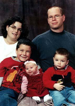 Patrick, Cameron, Katie, Sebastian and Melissa.  December 2003