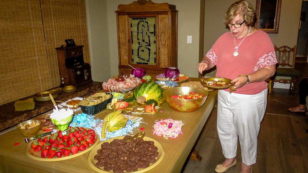 Susan Alonso samples sweets and treats